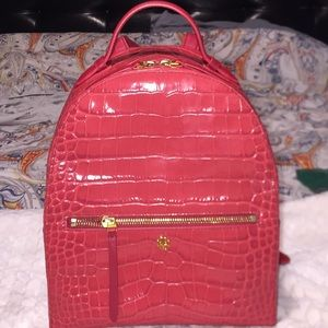 Tory Burch all-leather croc pattern backpack 🎒
